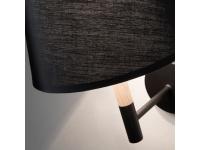 Lampara aplique nordico negro silke