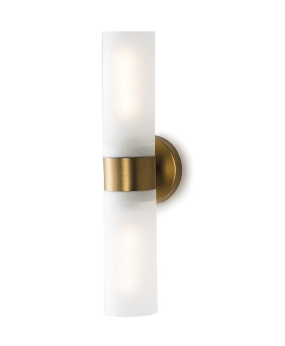 Lampara aplique art deco cristal dorada WL-106