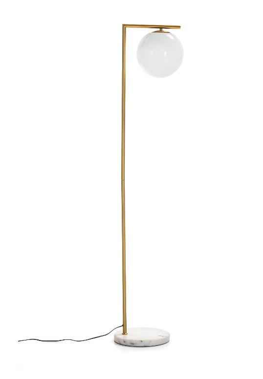 Lampara de pie metal dorada glovo vintage PL-211