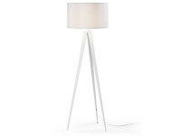 Lampara de pie tripode white