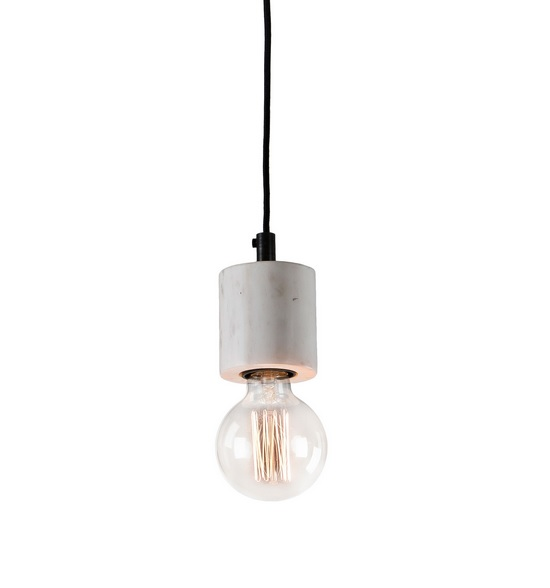 Lampara suspension marmol blanco 11
