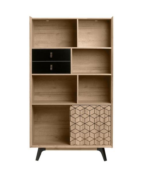 Libreria estanteria Ceilan roble negro 173x98