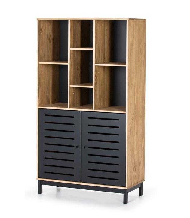 Estanteria industrial alessia madera negro mate 160x90