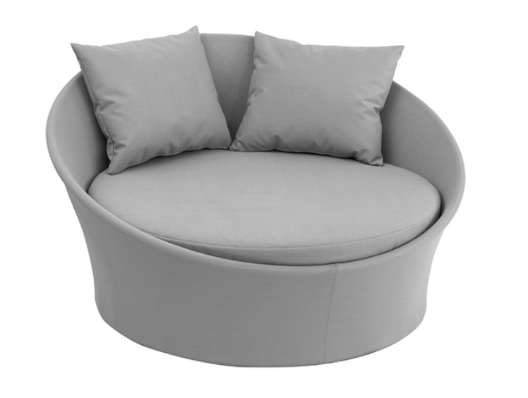 Lounge bed terraza textilene gris apollo