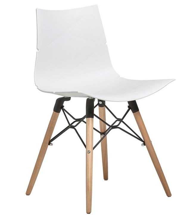 Melani silla nordica polipropileno rombos blanco