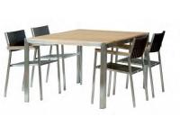 Mesa acero inox y teka Style