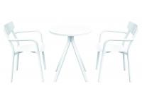 Conjunto terraza aluminio blanco shine