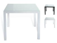 Mesa aluminio blanco Taha 80x80