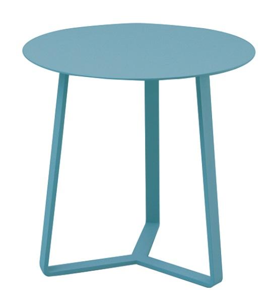 Mesa auxiliar apollo redonda aluminio azul 57x60