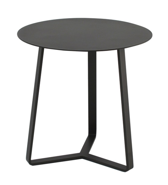 Mesa auxiliar apollo redonda aluminio mocca 57x60