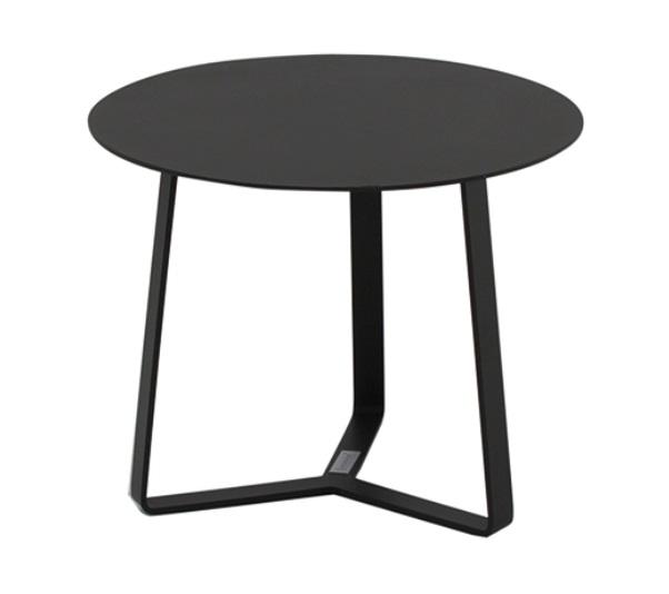 Mesa auxiliar apollo redonda aluminio negro 44x37
