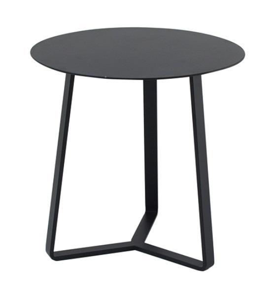 Mesa auxiliar apollo redonda aluminio negro 57x60