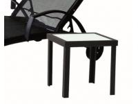 Mesa auxiliar aluminio negro Taha