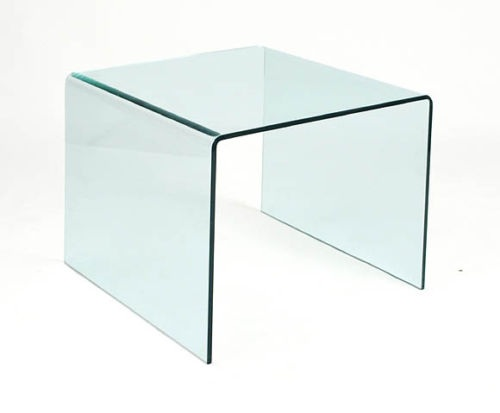 Mesa auxiliar cristal templado 60x60