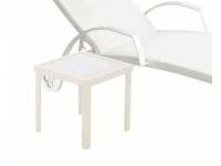 Mesa auxiliar aluminio blanco Taha