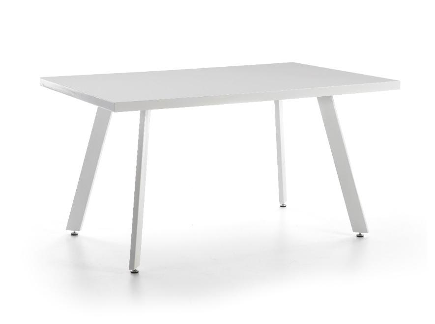 Mesa de comedor blanco brillo 140x90 DT-136