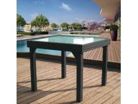 Mesa aluminio extensible Calpe antracita 180