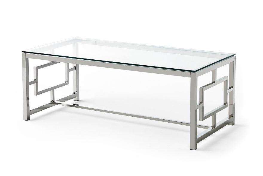Mesa de centro acero cristal 120x60 CT-228
