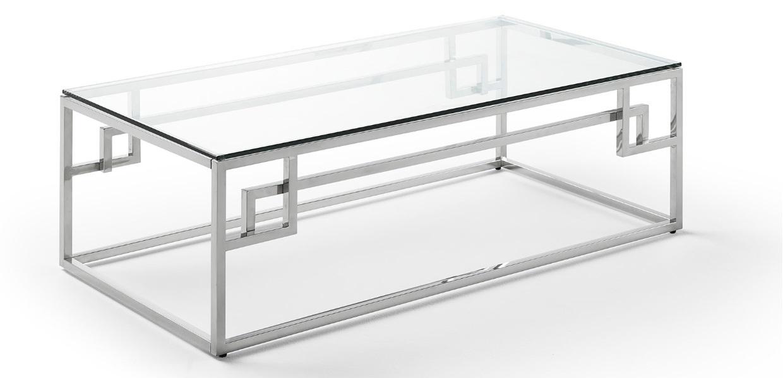 Mesa de centro acero cristal 120x60 CT-229