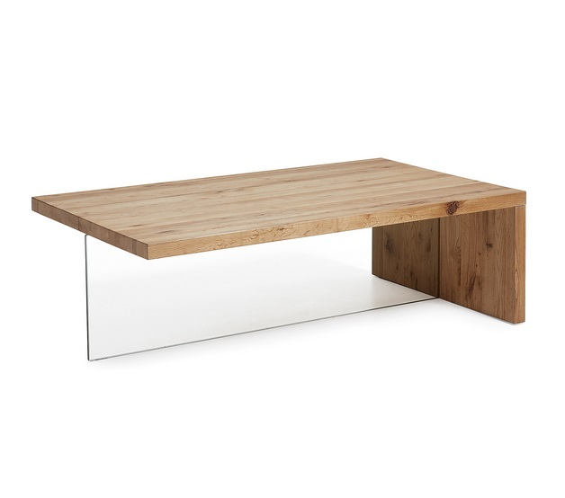 Mesa de centro air cristal roble 120x70