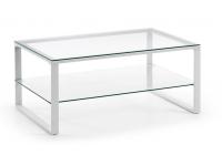 Mesa centro blanco cristal 90x55