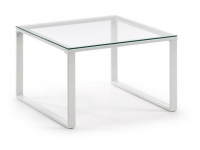 Mesa centro blanco cristal 60x60
