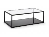 Mesa de centro minimalista acero 110x60
