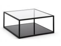Mesa de centro minimalista acero 80x80