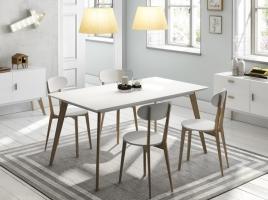 Mesa de comedor nordica vintage blanca 160x90 DT-900