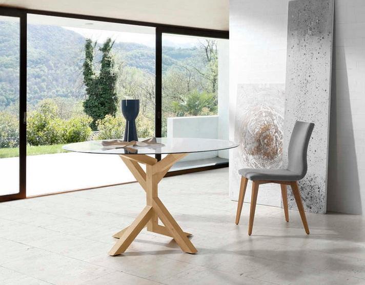 Mesa de comedor redonda tree wood 138 cm
