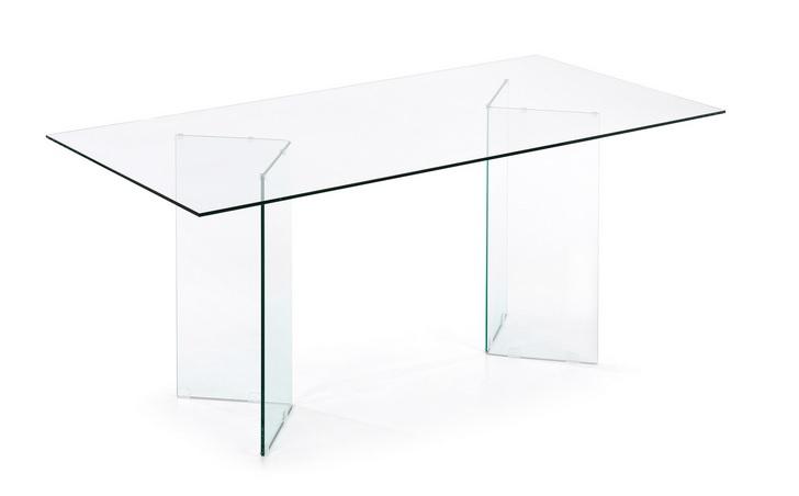 Mesa cristal transparente ghost 180x90
