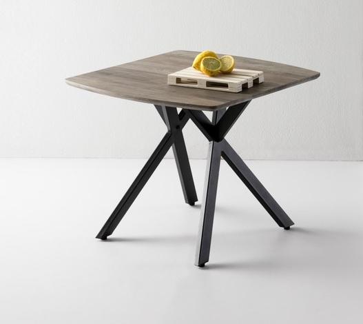 Mesa auxliar Irene roble gris 60x60 cm