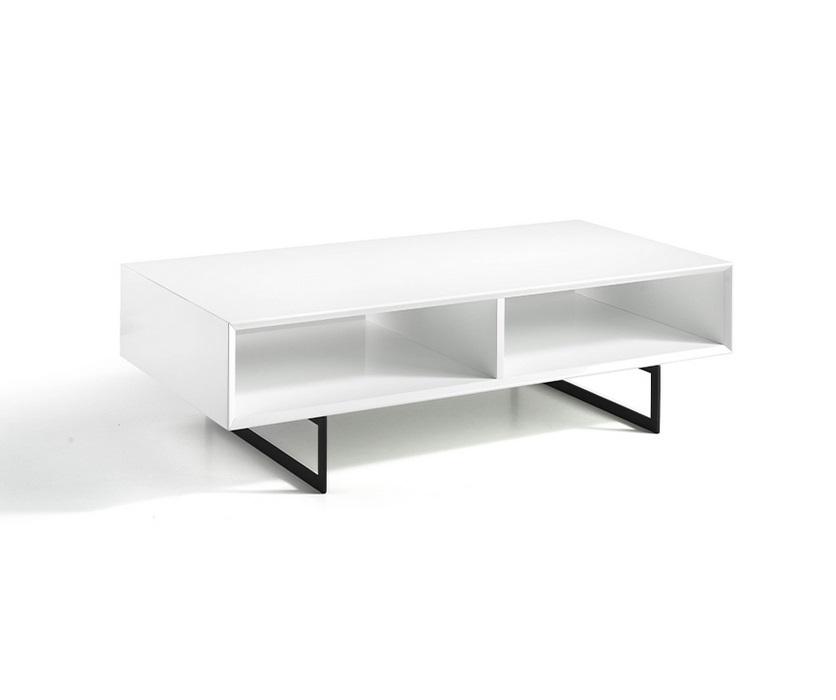 Mesa de centro Loira blanco brillo 120x60