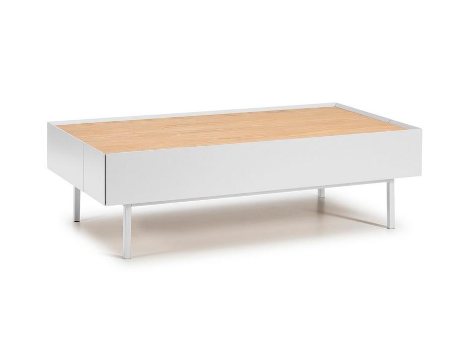 Mesa de centro Arista blanco mate roble 110x60