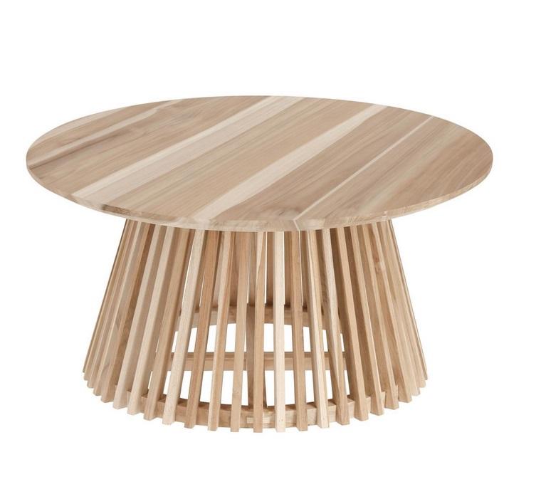 Mesa de centro art madera natural 80