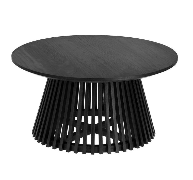 Mesa de centro art madera negro 80