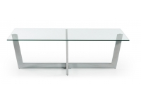 Mesa de centro acero cristal uves