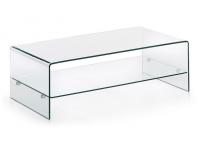 Mesa de centro cristal 110x55 con balda