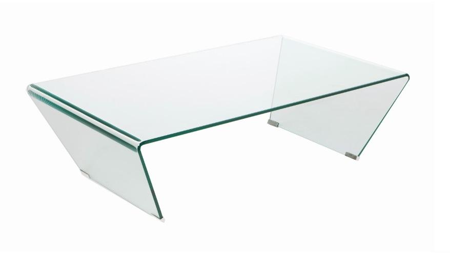 Mesa de centro cristal transparente 120x70