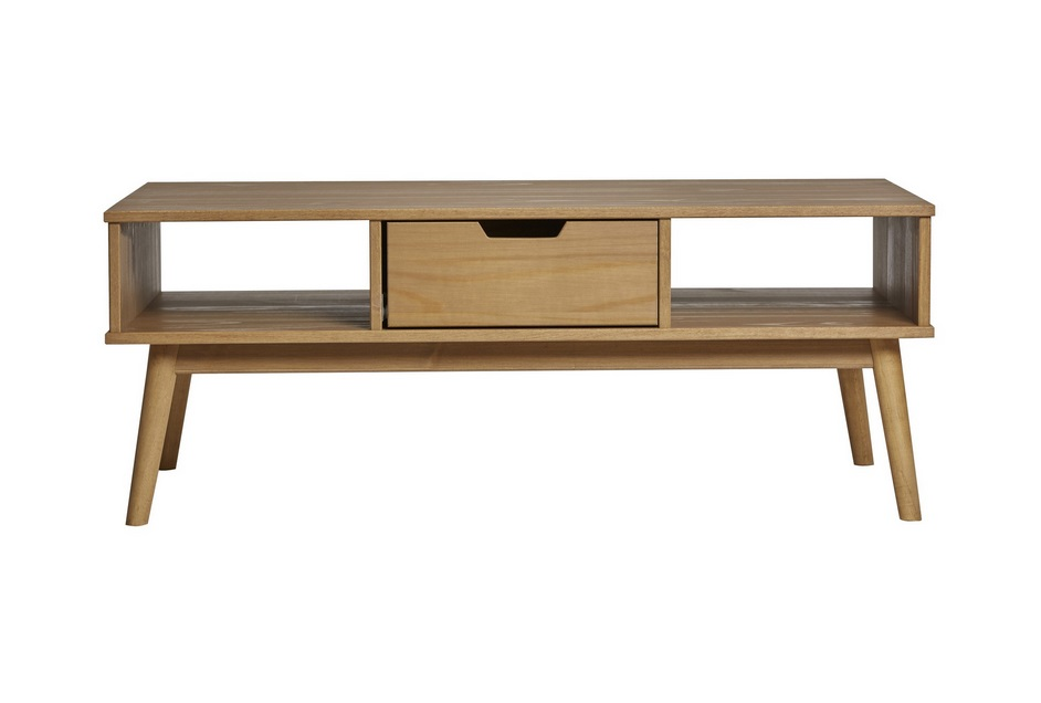 Mesa de centro cusco madera a la cera 110x55