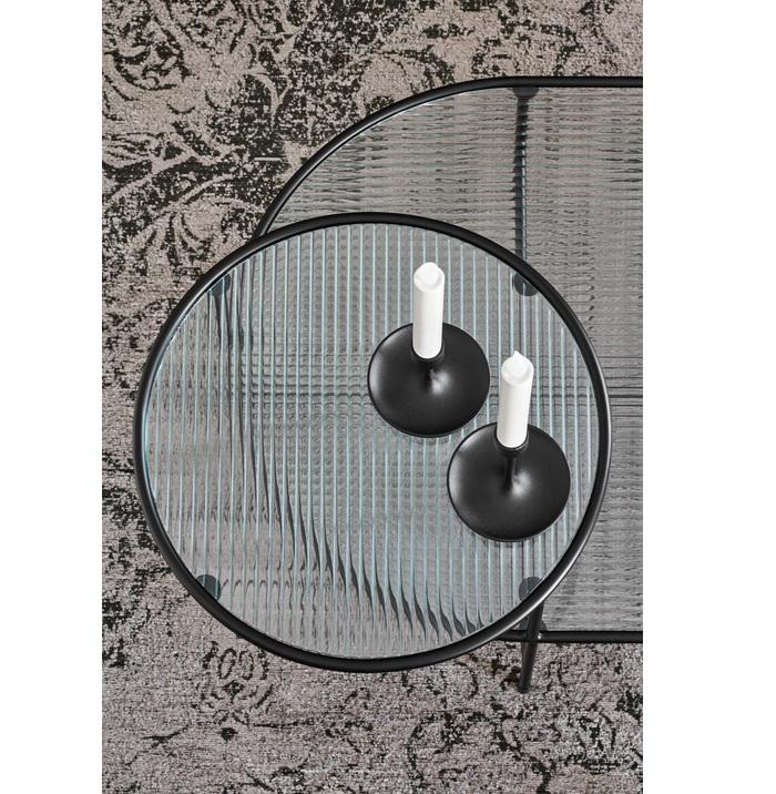 Nix mesa de centro metal negro 126x66