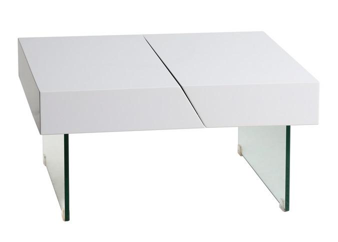 Mesa de centro Serena roble blanco brillo 75x75