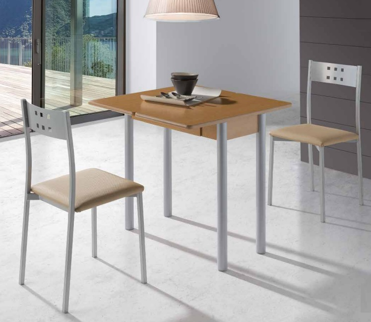 Mesa de cocina  extensible Pisa roble 80x40-80 cm