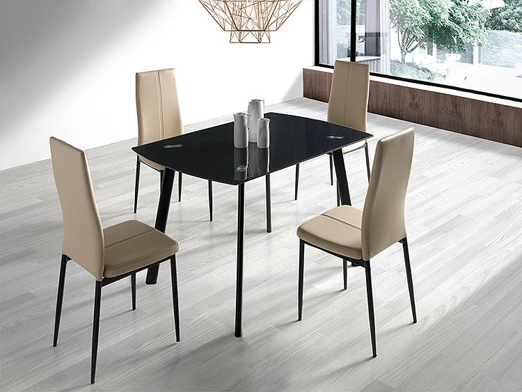 Mesa de cocina carla cristal negro 120x80