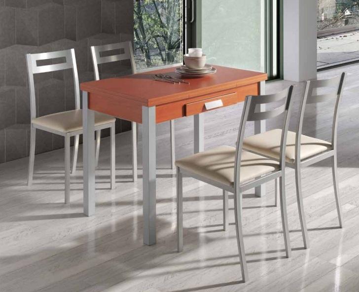Mesa de cocina extensible Maia cerezo 100-160x60 cm