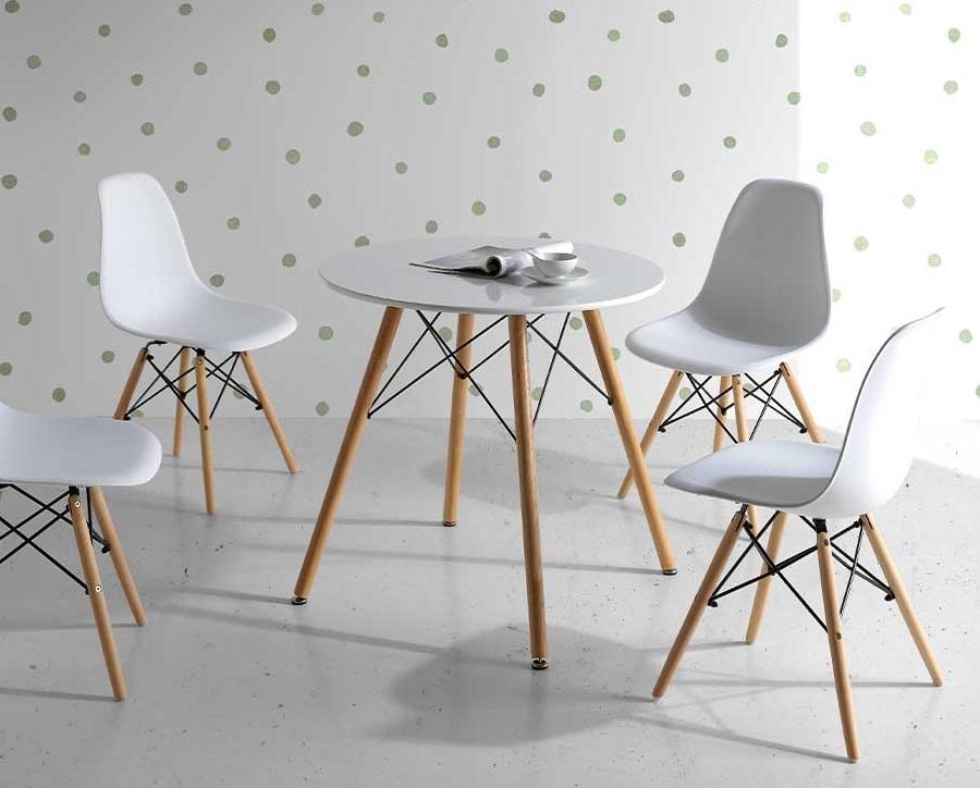 Mesa de cocina ana nordica redonda 80 cm
