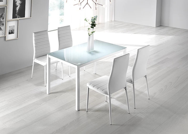Mesa de cocina Nuria blanco puro 110x70