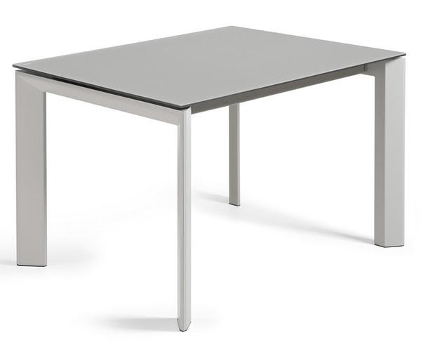 Mesa extensible lam cristal gris 120-180x80