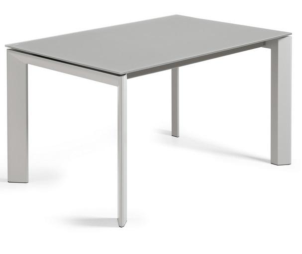Mesa extensible lam cristal gris 140-200x90