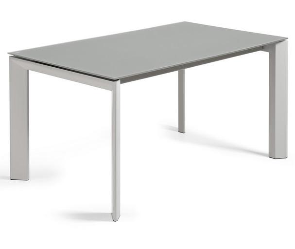 Mesa extensible lam cristal gris 160-220x90